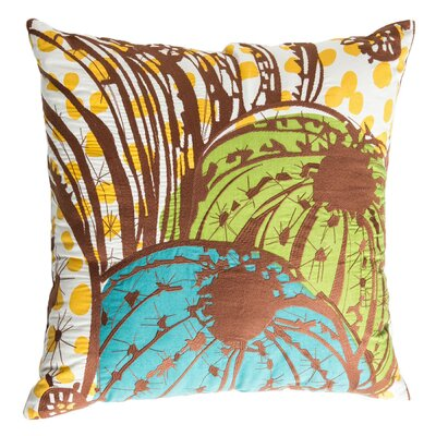 Cactus Cotton Throw Pillow