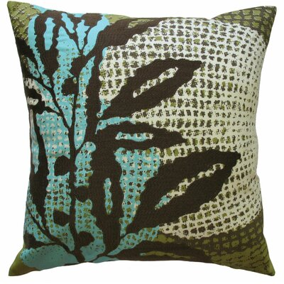 Ecco Embroidered Cotton Throw Pillow