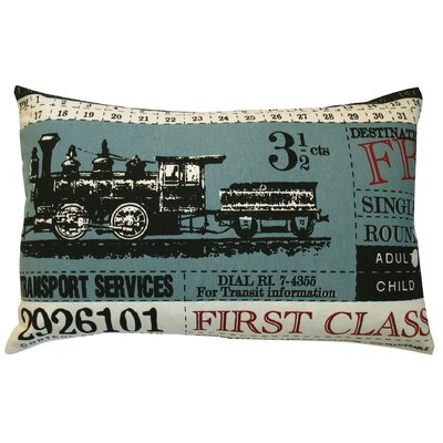 Ticket Cotton Lumbar Pillow