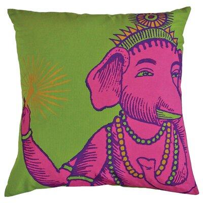 Bazaar Throw Pillow Color: Lime