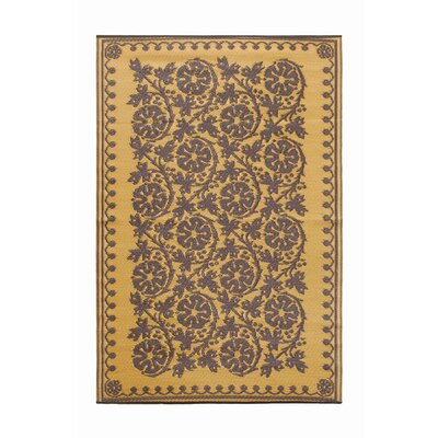 Cinquefoil Flowers Kitchen Mat Color: Cinnamon