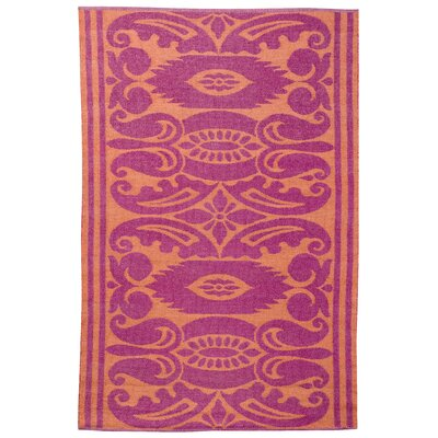 India Mauve/Rust Outdoor Area Rug Rug Size: 4 x 6