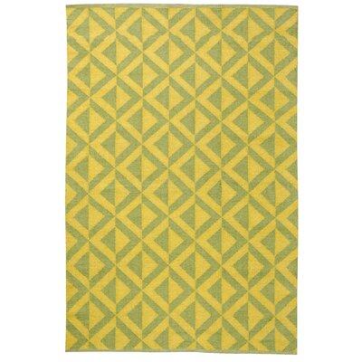 Medival Sage/Mustard Outdoor Rug Rug Size: 4 x 6