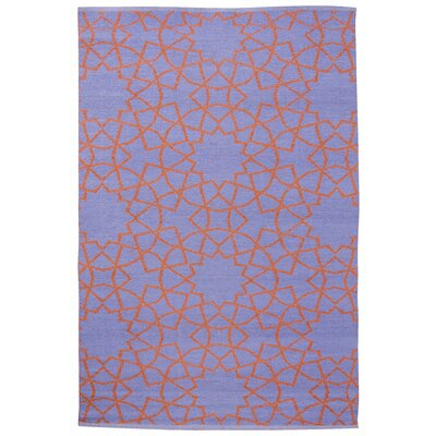 Fez Periwinkle/Rust Outdoor Area Rug Rug Size: 4 x 6