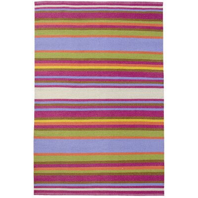 Folk Striped Outdoor Area Rug Rug Size: 4 x 6