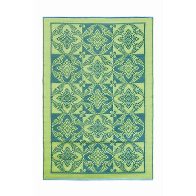 Primrose Flowers Kitchen Mat Color: Apple Green