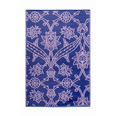 Fuchsia Flower Kitchen Mat Color: Lavender