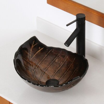 Hot Melted and Hand Painted Autumn Leaf Shaped Bow Specialtyl Vessel Bathroom Sink Drain Finish: Oil Rubbed Bronze