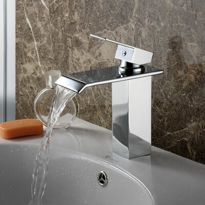 Single Handle Bathroom Waterfall Faucet Finish: Chrome