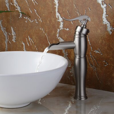 Vintage Single Handle Bathroom Water Pump Faucet Finish: Brushed Nickel
