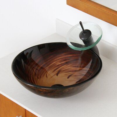Whirlpool Hand Painted Bowl Circular Vessel Bathroom Sink Drain Finish: Oil Rubbed Bronze