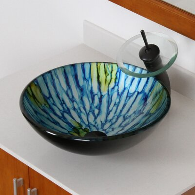 Double Layered Glass Bowl Circular Vessel Bathroom Sink Drain Finish: Oil Rubbed Bronze