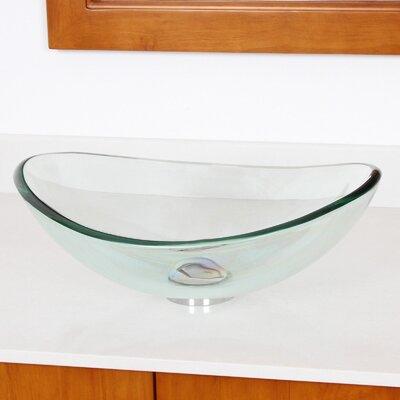 Mini Vessel Bathroom Sinks.Elite Mini Tempered Glass Oval Vessel Bathroom Sink