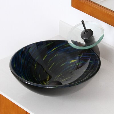 Whirlpool Meteor Shower Hand Painted Bowl Circular Vessel Bathroom Sink Drain Finish: Oil Rubbed Bronze