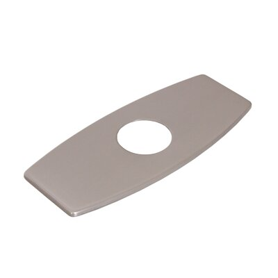 Solid Brass 3-to-1 Hole Conversion Inflated Rectangle Shaped Faucet Deck Plate Finish: Brushed Nickel
