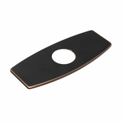 Solid Brass 3-to-1 Hole Conversion Inflated Rectangle Shaped Faucet Deck Plate Finish: Oil Rubbed Bronze