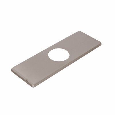Solid Brass 3-to-1 Hole Conversion Rectangle Faucet Deck Plate Finish: Brushed Nickel