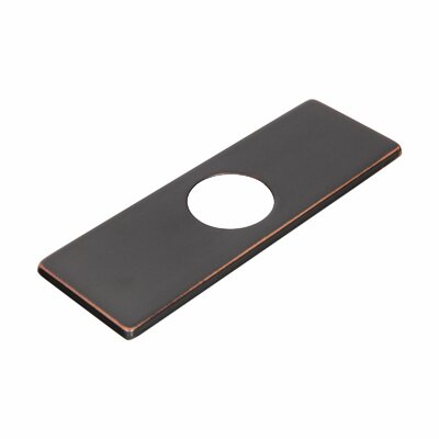 Solid Brass 3-to-1 Hole Conversion Rectangle Faucet Deck Plate Finish: Oil Rubbed Bronze