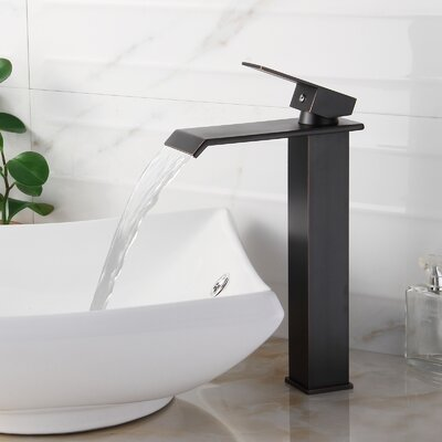 Single Handle Bathroom Waterfall Faucet Finish: Oil Rubbed Bronze