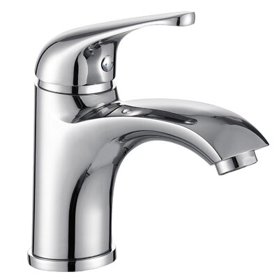 Single Handle Bathroom Faucet with Edged Spout Finish: Chrome