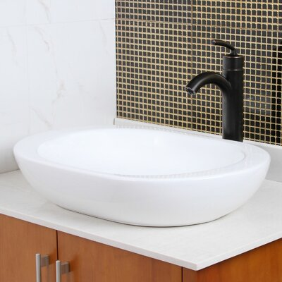 Ceramic Oval Vessel Bathroom Sink Drain Finish: Oil Rubbed Bronze