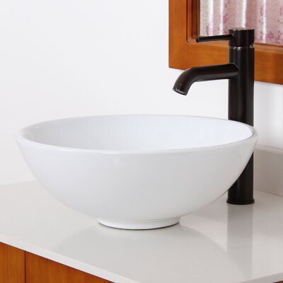 Ceramic Circular Vessel Bathroom Sink Drain Finish: Oil Rubbed Bronze