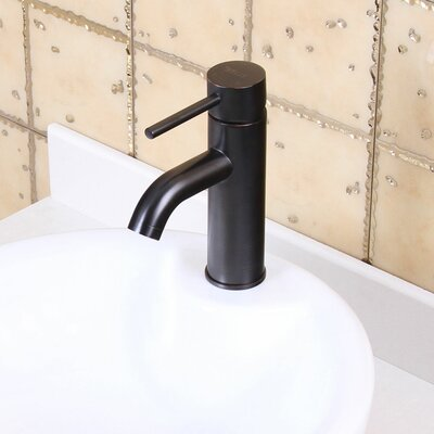 Single Handle Bathroom Sink Faucet with Horizontal Dip Tip Spout Finish: Oil Rubbed Bronze