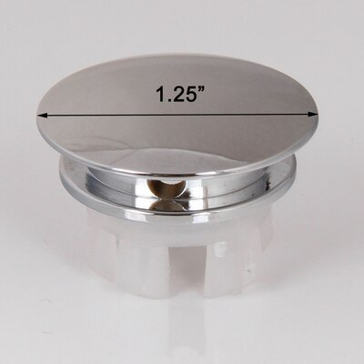Solid Brass Overflow Cap Finish: Chrome
