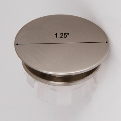 Solid Brass Overflow Cap Finish: Brushed Nickel