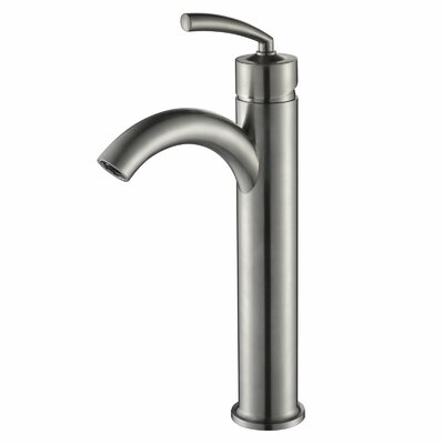 Single Handle Bathroom Faucet with U Arched Spout Finish: Brushed Nickel
