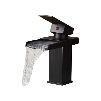 Single Handle Bathroom Sink Waterfall Faucet Finish: Oil Rubbed Bronze