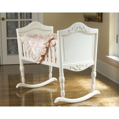Antique White Cradle with Mattress