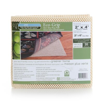 Eco Grip Non-Slip Rug Pad Rug Pad Size: Rectangle 5 x 8