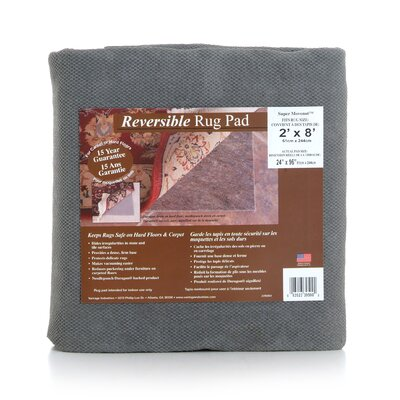 Super Movenot Folded Non-Slip Rug Pad Rug Pad Size: Rectangle 12 x 18
