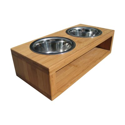 Bambu Pet Diner Double Bowl PD1C-14