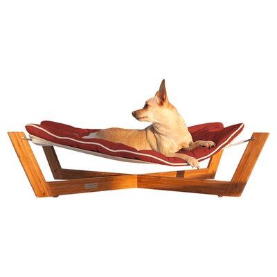 Bambu Cross Pet Hammock Color: Tango Orange