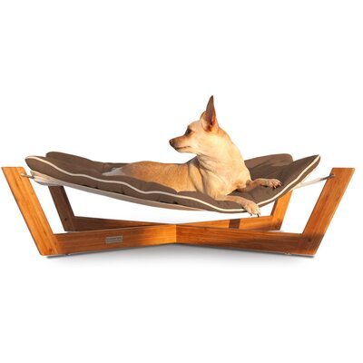 Bambu Cross Pet Hammock Color: Chestnut Brown