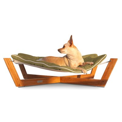 Bambu Cross Pet Hammock Color: Kiwi Green