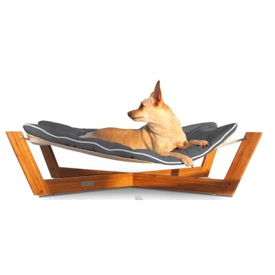 Bambu Cross Pet Hammock Color: Graphite Gray