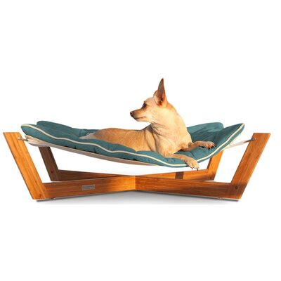 Bambu Cross Pet Hammock Color: Berry Blue