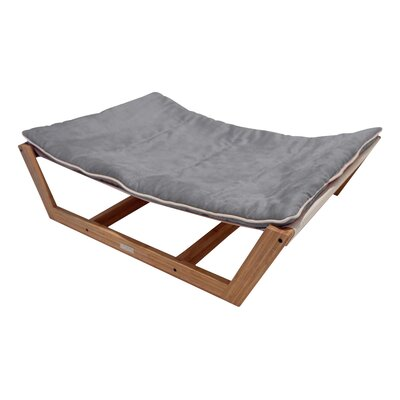 Bambu Nautical Pet Hammock Size: Medium - 9 H x 26 W x 35.5 D, Color: Graphite Gray