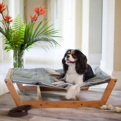 Bambu Nautical Pet Hammock Color: Berry Blue, Size: Large - 10.5 H x 34 W x 46 D