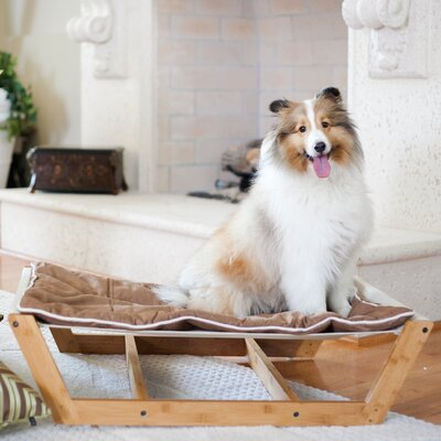 Bambu Nautical Pet Hammock Size: Medium - 9 H x 26 W x 35.5 D, Color: Chestnut Brown