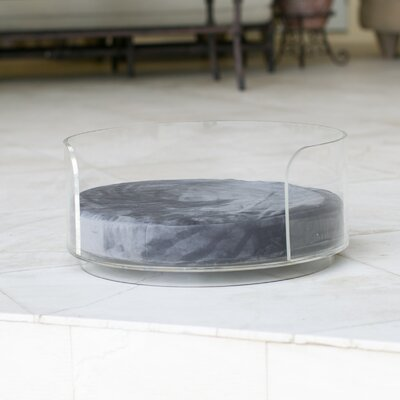Acrylic Curved Dog Bed Color: Graphite Gray