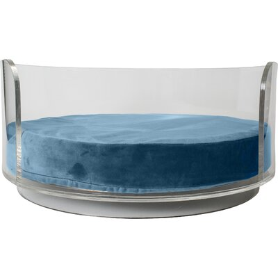 Acrylic Curved Dog Bed Color: Berry Blue