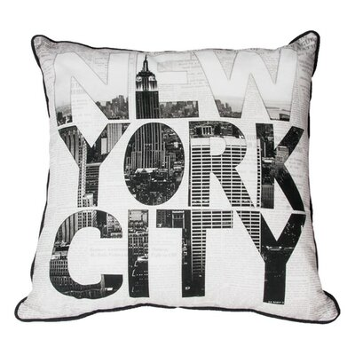 NY Type Cotton Throw Pillow