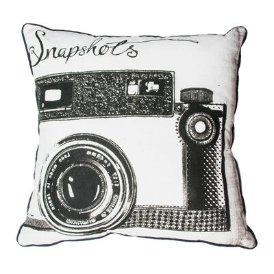Snapshots Cotton Throw Pillow