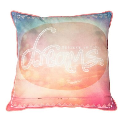 Dream Cotton Throw Pillow