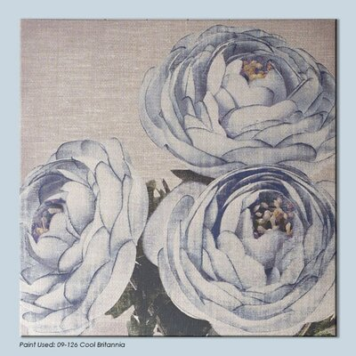 Harrogate Floral Trio Graphic Art on Wrapped Canvas
