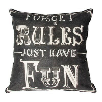 Forget Rules Cotton Throw Pillow